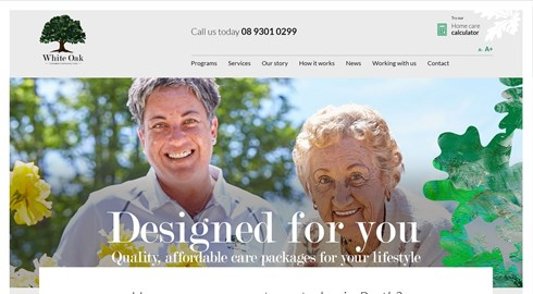 New website launches for White Oak Home Care Services